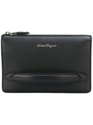 Salvatore Ferragamo Hand Strap Clutch Black
