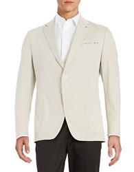 Bugatti Two Button Cotton Stretch Jacket Beige