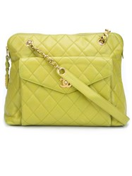 Chanel Vintage Pocket Tote Bag Green