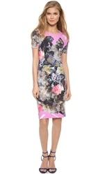 Preen Shina Dress Painted Flower
