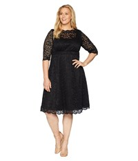 Kiyonna Lacey Cocktail Dress Onyx Black