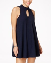 Material Girl Juniors' Cutout Swing Shift Dress Only At Macy's Navy