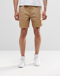Farah Pilkington Slim Fit Shorts Beige