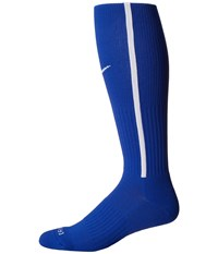 Nike Vapor Iii Over The Calf Team Socks Game Royal Football White Football White Knee High Socks Shoes Blue