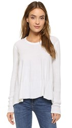 Wilt Mixed Trapeze Sweater White