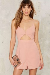 Glamorous Haddie Cut Out Romper Pink