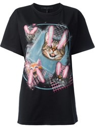 Marc Jacobs Lazer Cat Print T Shirt Black