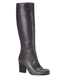 Phase Eight Avaline Slouchy Leather Boots Charcoal