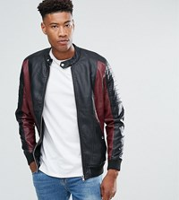 Barney's Originals Tall Faux Leather Jacket Black