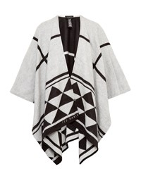 Ted Baker Manto Geo Checked Print Cape Black