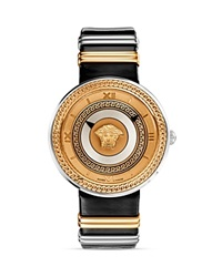 Versace V Metal Rose Gold And Black Dial Watch 40Mm Black Multi