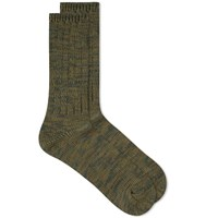 Anonymous Ism 5 Colour Mix Crew Sock Green