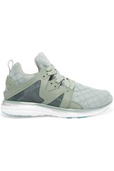 Athletic Propulsion Labs Ascend Mesh And Rubber Sneakers Gray Green