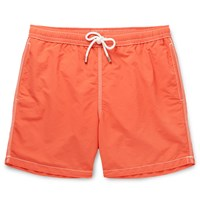 Hartford Mid Length Swim Shorts Orange