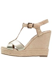 Xti Wedge Sandals Oro Gold