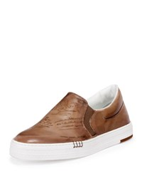 Berluti Playtime Van Scripoto Slip On Sneaker Medium Brown