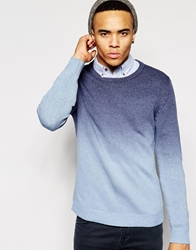 Native Youth Ombre Knitted Jumper Blue