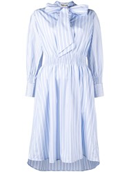 Teija Striped Dress Blue