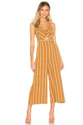 Astr Dylan Jumpsuit Yellow