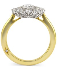 Star By Marchesa Certified Diamond Engagement Ring In 18K Gold 1 1 3 Ct. T.W. Yellow Gold