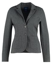 Tom Tailor Blazer Dark Charcoal Grey Anthracite