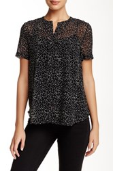 Zoa Short Sleeve Pintucked Blouse Black