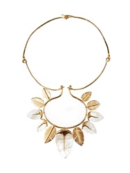 Aurelie Bidermann Talitha Mother Of Pearl And Gold Plated Necklace