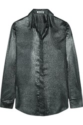 Jil Sander Silk Blend Lame Shirt Silver