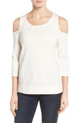 Nydj Women's Cold Shoulder Pullover Sugar
