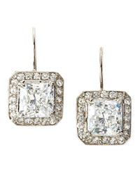 Fantasia Cz Princess Cut Earrings