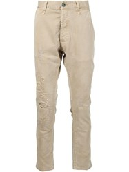 Denham Jeans Denham Distressed Trousers Nude And Neutrals