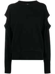 Diesel Cut Out Detail Sweater Black