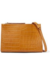 Nanushka Izabel Croc Effect Leather Shoulder Bag Tan