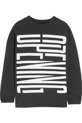 Opening Ceremony Oversized Printed Cotton Sweatshirt Black