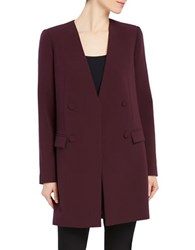 Ellen Tracy Long Sleeve Open Front Blazer Fig
