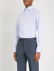 Eton Contemporary Fit Cotton Twill Shirt Light Blue