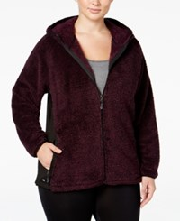 Ideology Plus Size Fuzzy Hooded Jacket Only At Macy's Sweet Fig