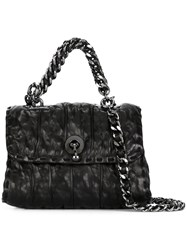 Ermanno Scervino Crinkle Effect Satchel Bag Black