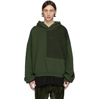 Haider Ackermann Khaki Perth Patch Hoodie