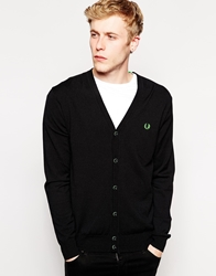 Fred Perry Soho Neon Cardigan With Neon Green Laurel