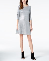 Bar Iii Sequined Shift Dress Created For Macy's Dynamic Grey