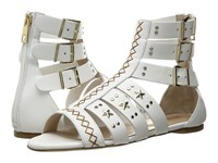 Just Cavalli Leather Star And Stud Sandal White Women's Shoes