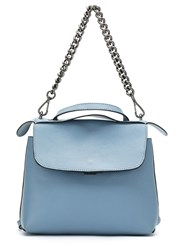 Mara Mac Leather Chain Strap Purse Blue
