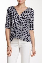 Weston Wear Dory Printed Surplice Blouse Multi