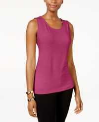 Jm Collection Jacquard Tank Top Only At Macy's Steel Rose