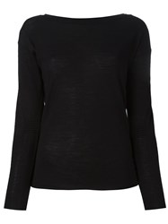 Twin Set Boat Neck Jumper Black