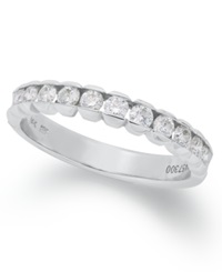 Macy's Certified Diamond Anniversary Band Ring In 14K White Gold 1 2 Ct. T.W.