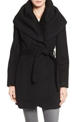 T Tahari Women's Wool Blend Belted Wrap Coat