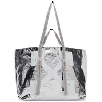 Off White Silver New Commercial Tote