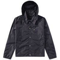 Ami Alexandre Mattiussi Hooded Coach Jacket Black